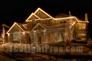 Christmas Lights on a two story home