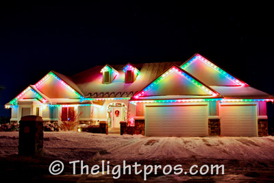 multicolor lights - Christmas Light Home Decorating Ideas