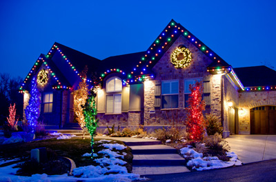 how to put on christmas lights