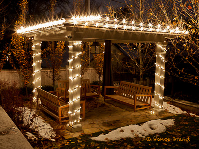 Christmas lights on Gazebo